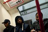 In London Underground train — Stock Photo