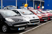 Peugeot Cars for sale — Stock Photo