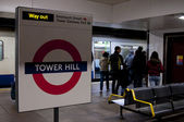 Tower Hill London tube — Stock Photo