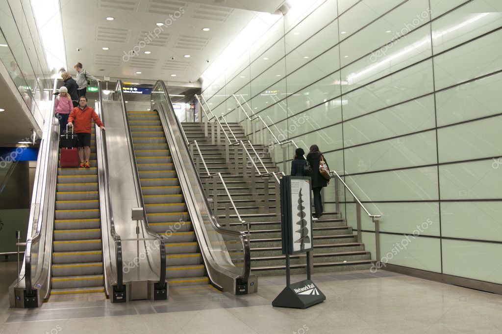 National railway. go up the escalator  Stock Photo #9911988
