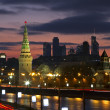 Moscow, Russia, night view on Kremlin — Stock Photo #9793766