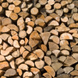 Stock Photo: Stack of chopped firewood