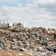 Bulldozer work at the landfill — Stock Photo