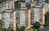 Aerial view blocks of flats — Stock Photo