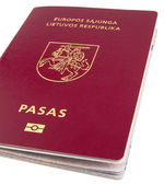 New Lithuanian Passport — Stock Photo