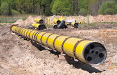 Large diametr gas pipeline — Stock Photo