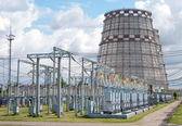 Electricity power plant cooling Tower — Stock Photo