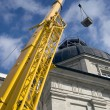 Yellow mobile crane — Stock Photo #8847013