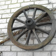 Old wooden wheel — Foto de stock #8847525