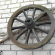 图库照片: Old wooden wheel