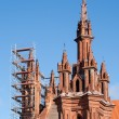Stock Photo: St. Anne Church renovation against blue sky