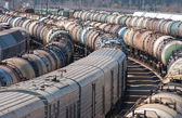 Cargo station on the railroad — Stock Photo