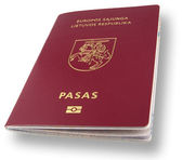 New Lithuanian Passport with CP — Stock Photo