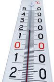 Termometer isolerad på vit — Stockfoto