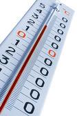Beyaz izole termometre — Stok fotoğraf