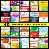 40 business cards — Stock Vector