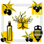 Greece olive — Vetorial Stock