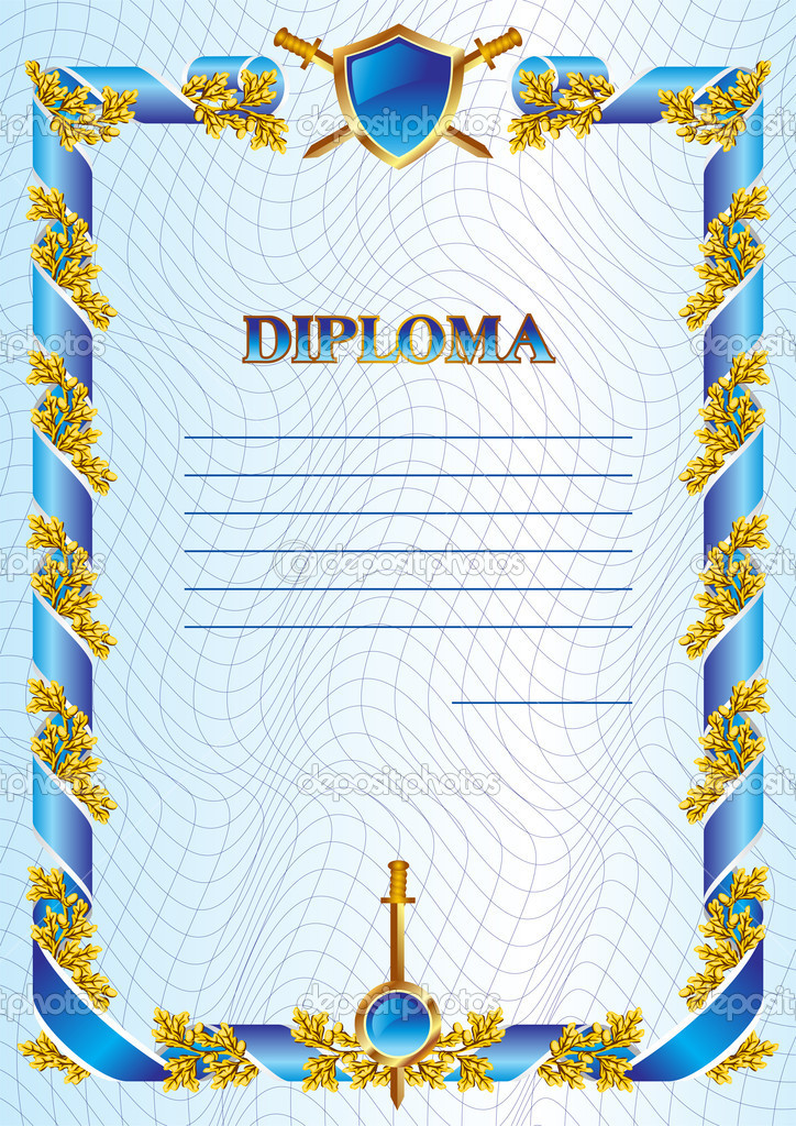 Vector template of military diploma — Stock Vector #10547887