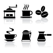 Icons_coffee_bm.cdr — Vetor de Stock