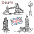 Stock Vector: London landmark