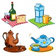 Stock Vector: Drinks