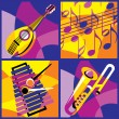Set musical Instruments - Stock Vector
