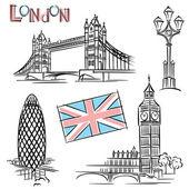 Landmark london — Vecteur