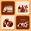 Leisure icons — Stock Vector