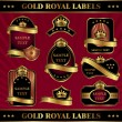 Gold royal labels — Stock Vector #9706745