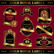 Stock Vector: Gold royal labels
