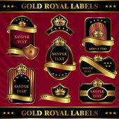 Gold royal labels — Stock Vector