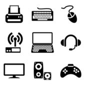 Computer devices icons — ストックベクタ