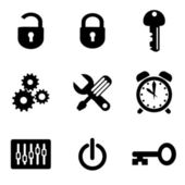 Computer settings icons — Stock Vector