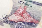Part of Nigerian currency — Stock Photo