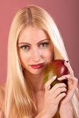 Makeup like mango on woman face — Stock Photo