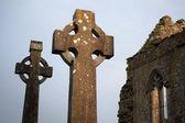 Celtic Stone crosses — Stock Photo