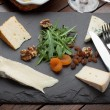 French & Irish Cheese Platter — Stock Photo