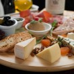 Mixed cheese, salami and Ham — Stock Photo #10280848