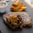 Rib-Eye Steak, shallow DOF - Stock Photo