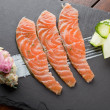 Homemade Salmon Gravadlax, shallow DOF — Stock Photo #10281092