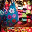 Handmade felt bags - Stock Photo