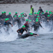 图库照片: Triathlon swimmers