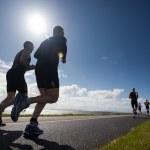 Runners, triathlon — Stock Photo #8285175