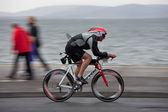 Cyclist, Corey Dawson (1353), panning technique — Stock Photo