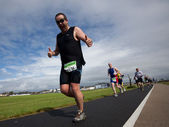 Rossa O'Donnell (34) and other Runners, triathlon — Stock Photo