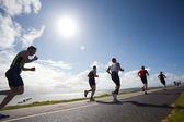 Runners, triathlon — Stock Photo