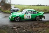 J.Spiers driving Porsche 911 — Stock Photo