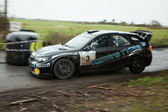 D.McGarrity driving Ford Focus WRC — Stock Photo