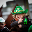 Kids enjoy St. Patrick - Stock Photo