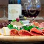 Mixed cheese, salami and Ham — Stock Photo #9955615